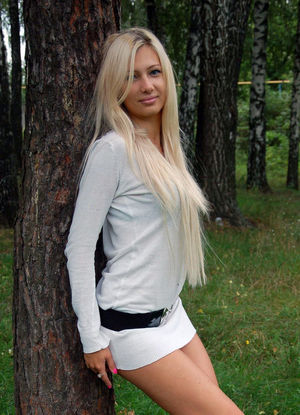 Long-legged Russian model candid photo..