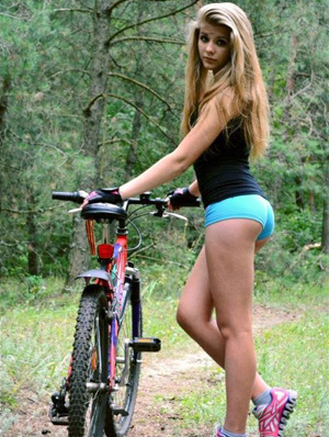 Erotic pictures with sexy babes on bikes