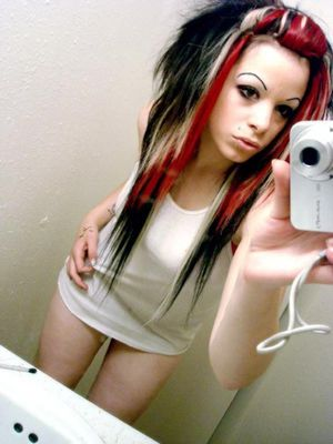 Fresh pictures of real emo bitch..