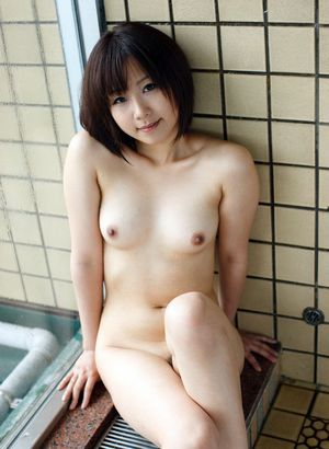 Young asian model with little but firm..